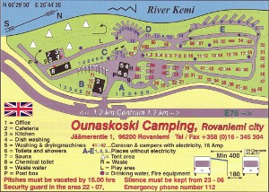 map of campsite
